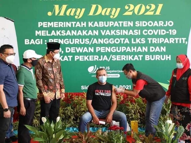Peringatan Hari Buruh Di Sidoarjo Nihil Demo. Bupati Gus Muhdlor Buka Posko Pengawasan THR