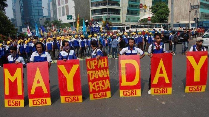 MAY DAY 1 Mei Konfederasi Serikat Pekerja Seluruh Indonesia  (KSPSI)  Tidak Menurunkan Massa