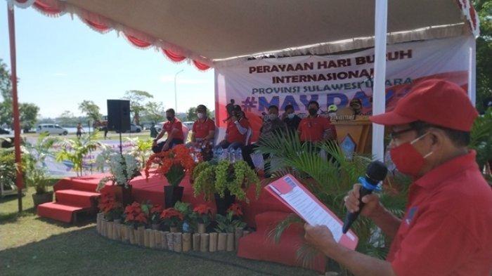 Buruh di Sulawesi Utara Dapat Bantuan Sembako Dari Gubernur